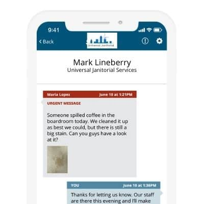 Church cleaning communication app